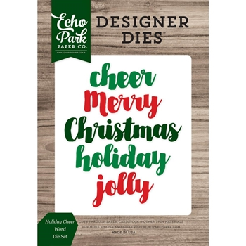 Echo Park HOLIDAY CHEER WORD Die Set EPPDIE852