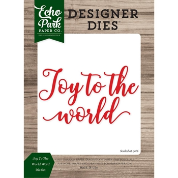 Echo Park JOY TO THE WORLD WORD Die Set EPPDIE855