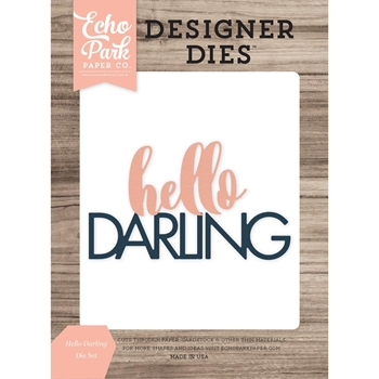 Echo Park HELLO DARLING WORD Die Set EPPDIE893