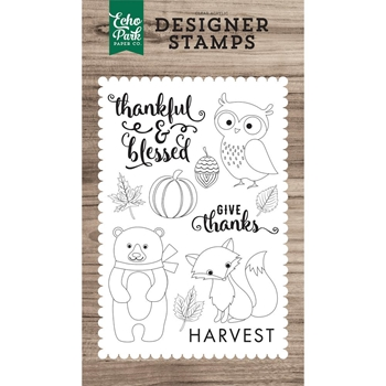 Echo Park THANKFUL & BLESSED Clear Stamps EPSTAMP155