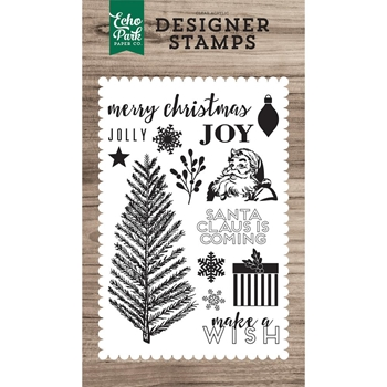 Echo Park MERRY CHRISTMAS Clear Stamps EPSTAMP157