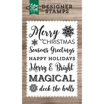 Echo Park MAGICAL SENTIMENTS Clear Stamps EPSTAMP158