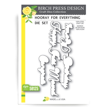 Birch Press Design HOORAY FOR EVERYTHING Craft Die 58125