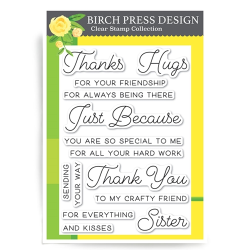 Birch Press Design JUST BECAUSE Clear Stamps CL8124 Preview Image
