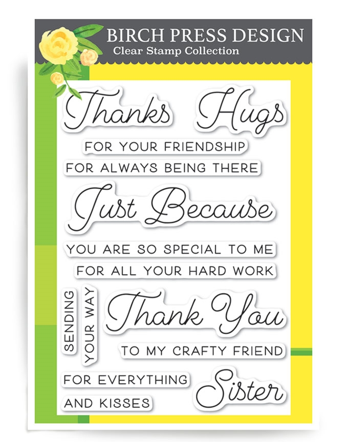 Birch Press Design JUST BECAUSE Clear Stamps CL8124 zoom image