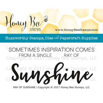 Honey Bee RAY OF SUNSHINE Clear Stamp Set HBST-73