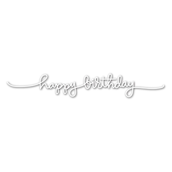 Simon Says Stamp HANDLETTERED HAPPY BIRTHDAY Wafer Dies SSSD111607
