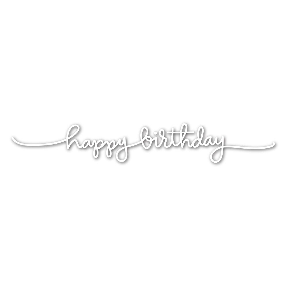 Simon Says Stamp HANDLETTERED HAPPY BIRTHDAY Wafer Dies SSSD111607 zoom image