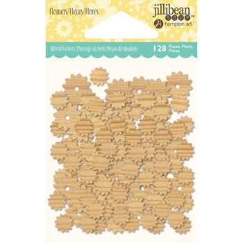Jillibean Soup FLOWERS Shaker Wood Veneers jb1372