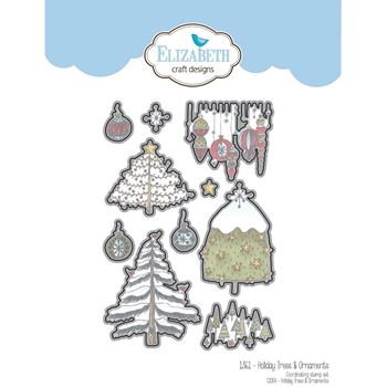 Elizabeth Craft Designs HOLIDAY TREES AND ORNAMENTS Craft Die 1361