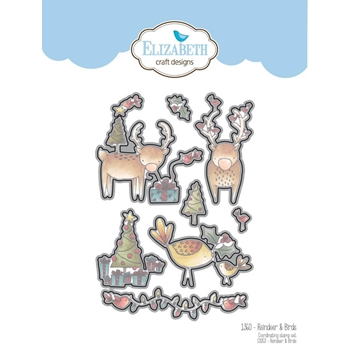 Elizabeth Craft Designs REINDEER AND BIRDS Craft Die 1360