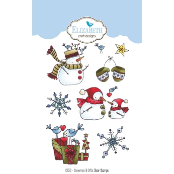 Elizabeth Craft Designs Clear Stamps SNOWMAN AND GIFTS CS052