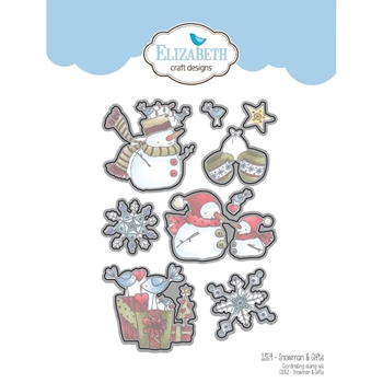 Elizabeth Craft Designs SNOWMAN AND GIFTS Craft Die 1359