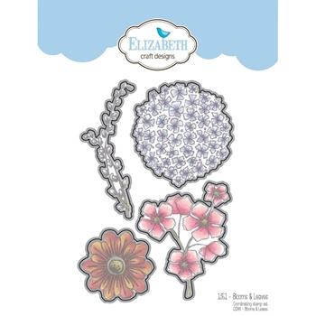 Elizabeth Craft Designs BLOOMS AND LEAVES Craft Die 1351