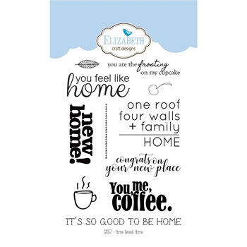 Elizabeth Craft Designs Clear Stamps HOME SWEET HOME CS057
