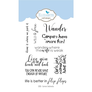 Elizabeth Craft Designs Clear Stamps SUMMER SENTIMENTS CS058
