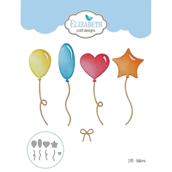 Elizabeth Craft Designs BALLOONS Craft Die 1393