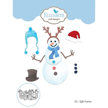 Elizabeth Craft Designs STYLISH SNOWMAN Craft Die 1411