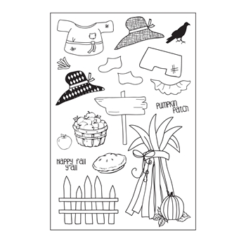 Riley and Company Clear Stamp Dress Up Riley FALL RCLR12