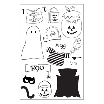 Riley and Company Clear Stamp Dress Up Riley HALLOWEEN OUTFITS RCLR11