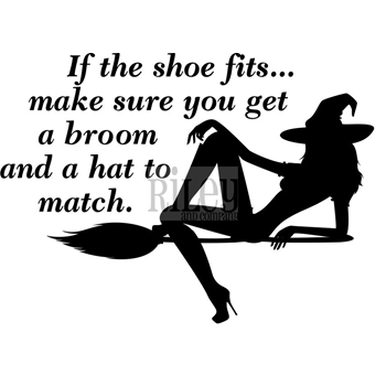 Riley And Company Funny Bones IF THE SHOE FITS Cling Rubber Stamp RWD-603