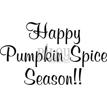 Riley And Company Funny Bones HAPPY PUMPKIN SPICE DAY Cling Rubber Stamp RWD-600
