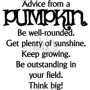 Riley And Company Funny Bones ADVICE FROM A PUMPKIN Cling Rubber Stamp RWD-596