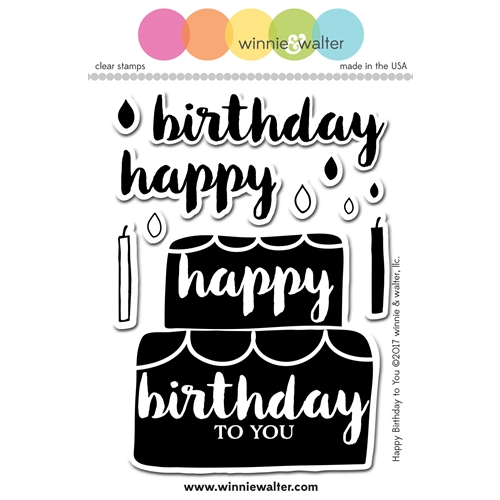Winnie and Walter HAPPY BIRTHDAY TO YOU Clear Stamps WW085 Preview Image