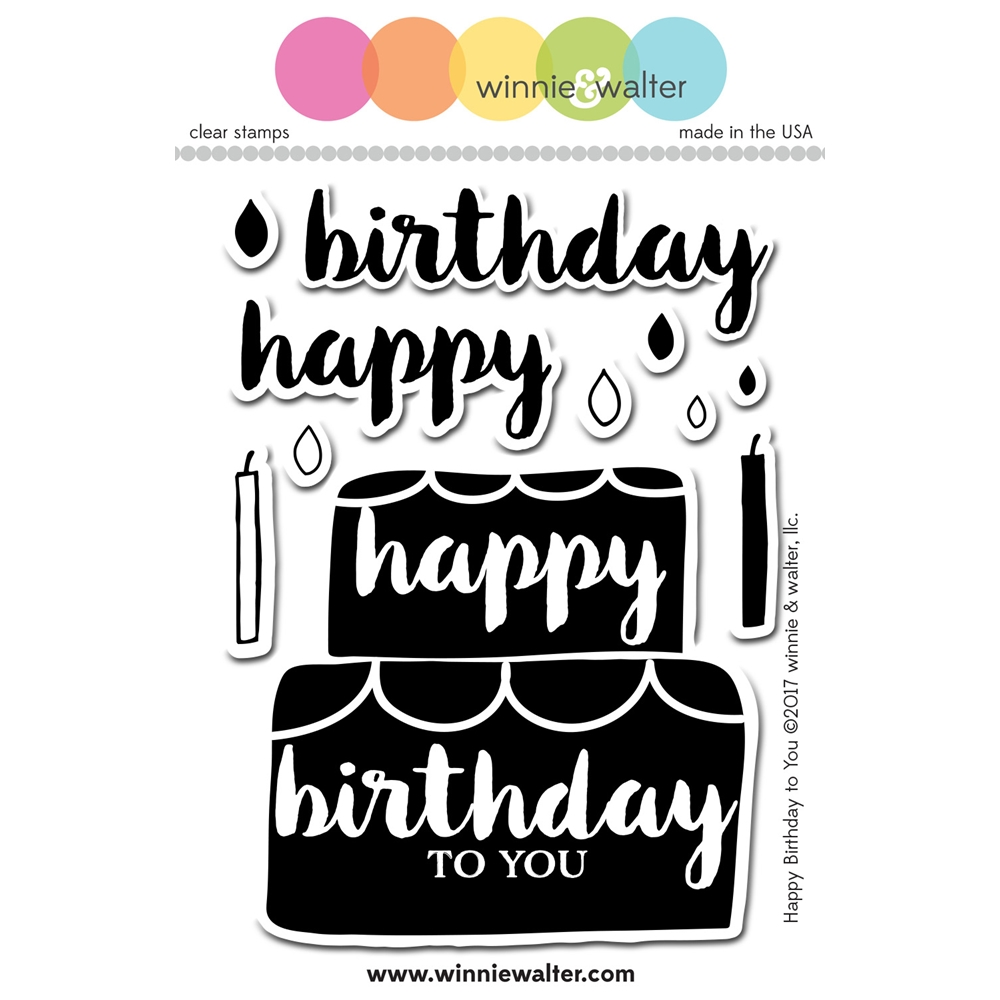 Winnie and Walter HAPPY BIRTHDAY TO YOU Clear Stamps WW085 zoom image