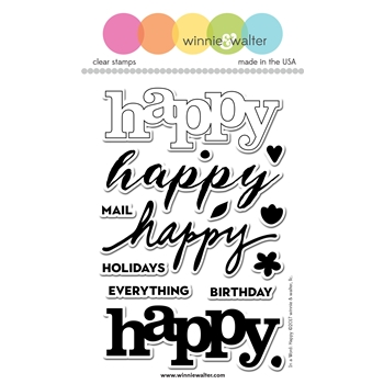 Winnie and Walter IN A WORD: HAPPY Clear Stamps WW091