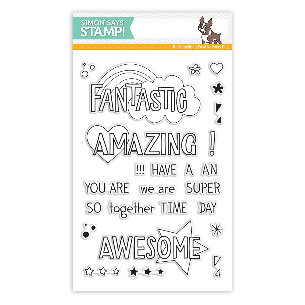 Simon Says Clear Stamps AMAZING MESSAGES SSS101755 zoom image