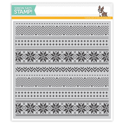 Simon Says Cling Rubber Stamp CHRISTMAS SWEATER BACKGROUND SSS101756 STAMPtember Preview Image