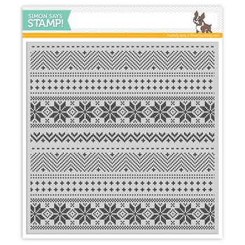 Simon Says Cling Rubber Stamp CHRISTMAS SWEATER BACKGROUND SSS101756 STAMPtember