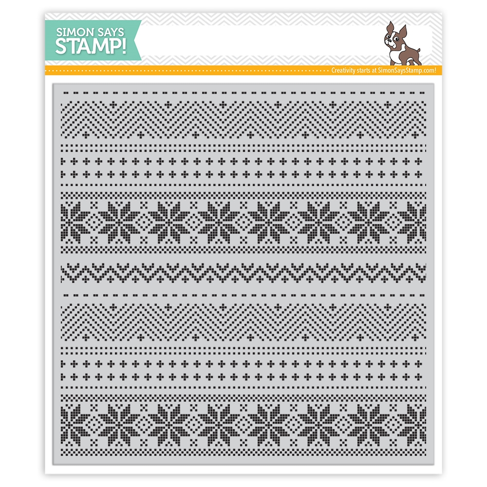 Simon Says Cling CHRISTMAS SWEATER BACKGROUND