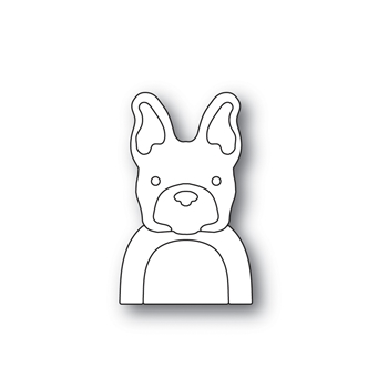 Simon Says Stamp PICTURE BOOK FRENCH BULLDOG Wafer Dies S464 STAMPtember