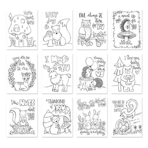 Simon Says Stamp Suzy's FOREST FRIENDS Watercolor Prints SZFF17 Preview Image