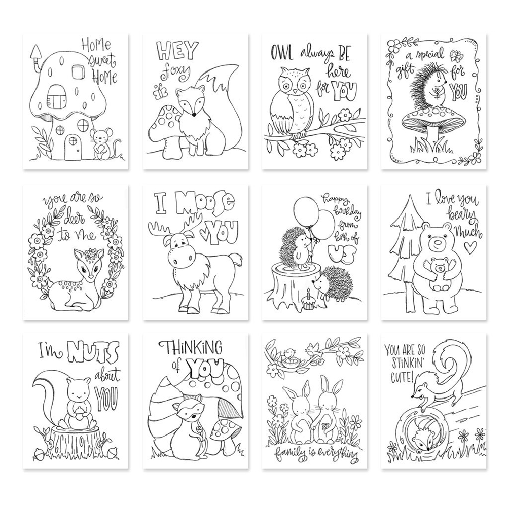 Simon Says Stamp Suzy's FOREST FRIENDS Prints