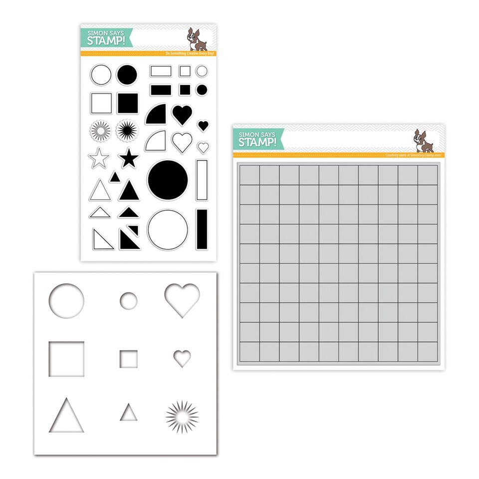 Simon Says Stamps And Stencils LAURAS GRID Set