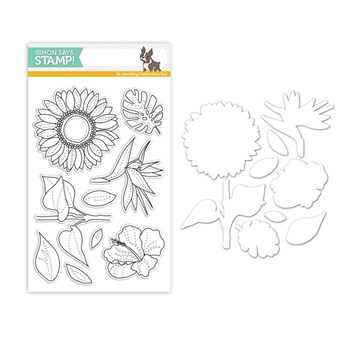Simon Says Stamps And Dies SUMMER FLOWERS Set309SF STAMPtember