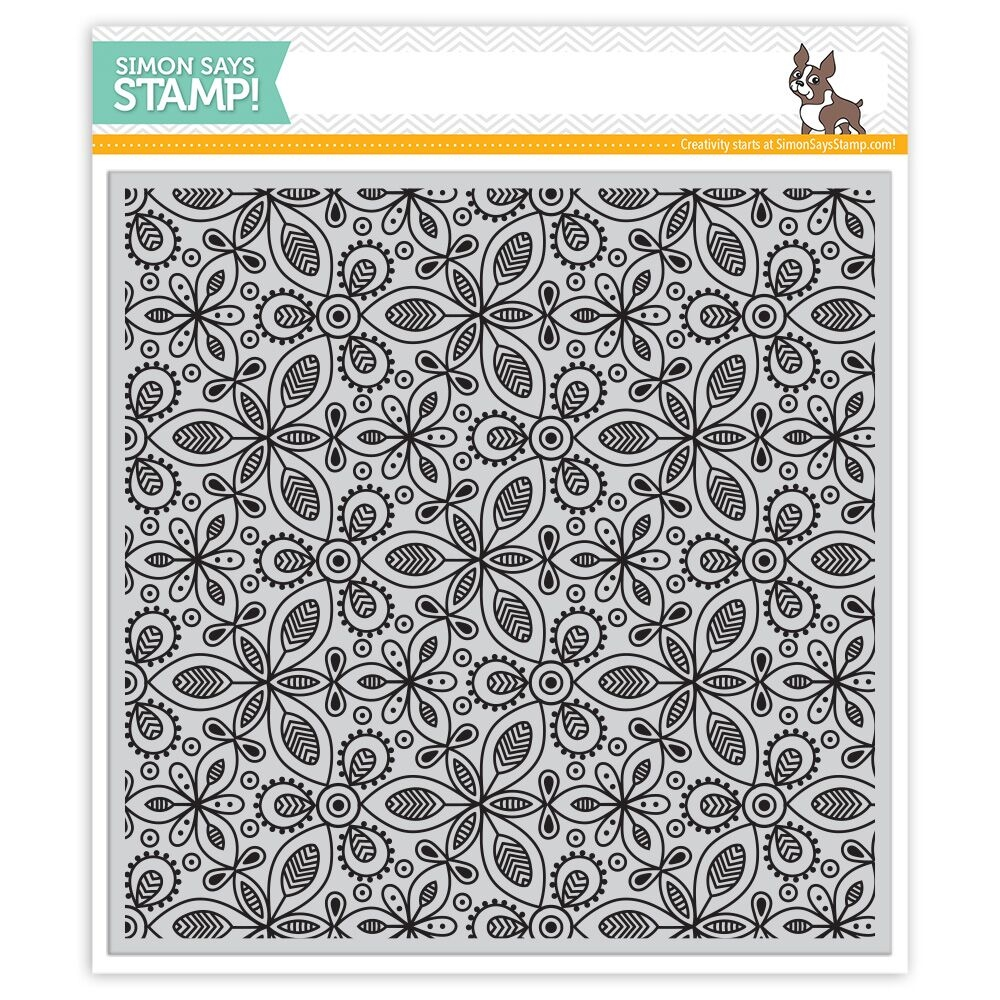 Simon's Exclusive Kaleidoscope Leaves Cling Stamp