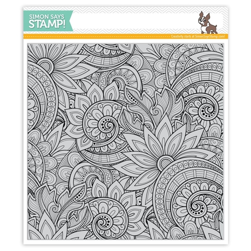 Simon Says Cling Rubber Stamp ORNATE BACKGROUND