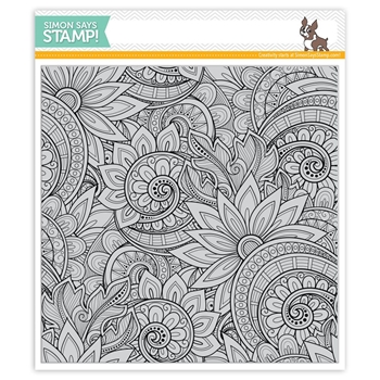 Simon Says Cling Rubber Stamp ORNATE BACKGROUND SSS101763