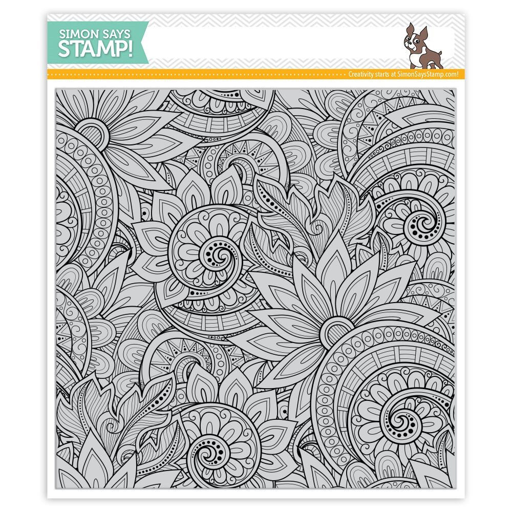 Simon Says Cling Rubber Stamp ORNATE BACKGROUND SSS101763 zoom image