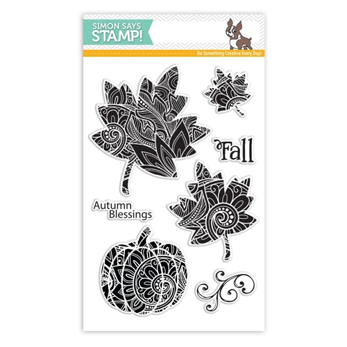 Simon Says Clear Stamps ORNATE LEAVES