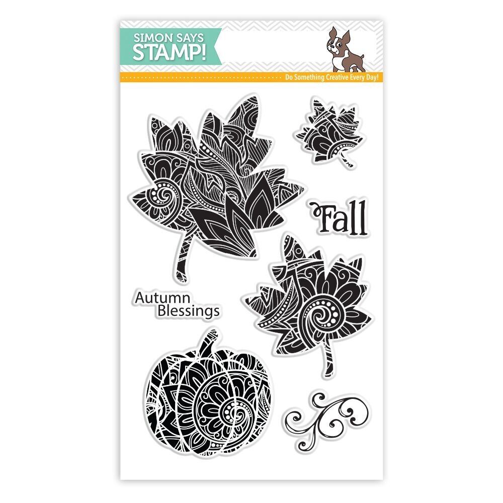 Simon Says Clear Stamps ORNATE LEAVES SSS101765 STAMPtember zoom image