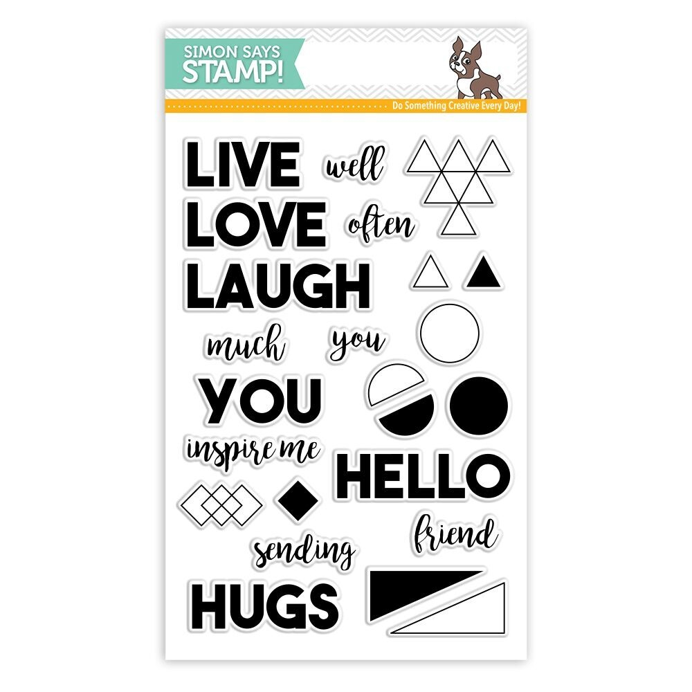 Simon Says Clear Stamp LIVE WELL