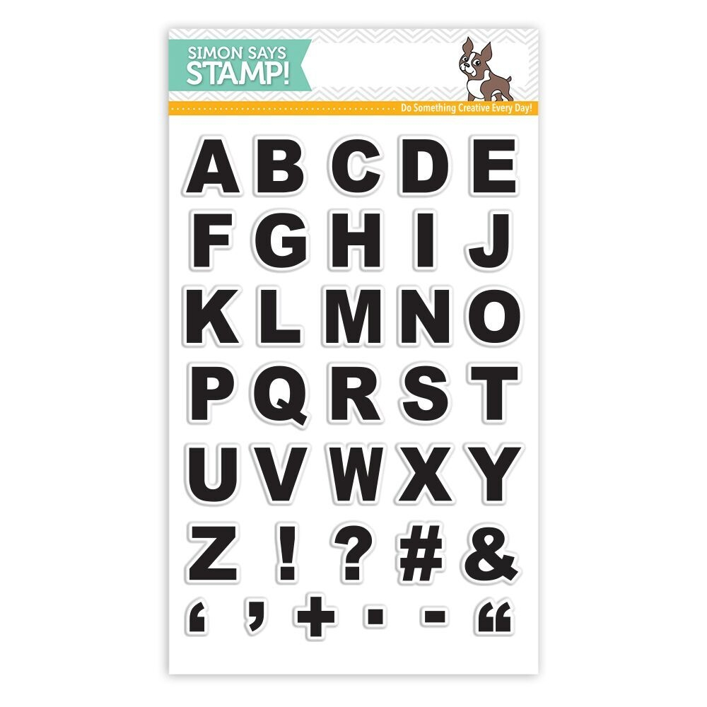 Simon Says Clear Stamp GRID PLAY ALPHA