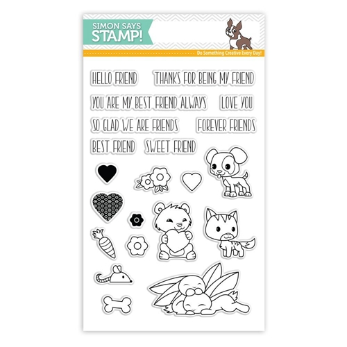 Simon Says Clear Stamp FOREVER FRIENDS SSS101798 STAMPtember Preview Image