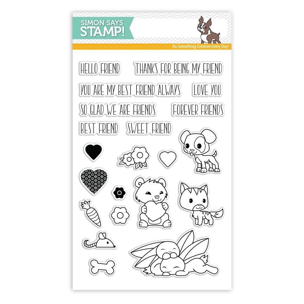 Simon Says Clear Stamp FOREVER FRIENDS