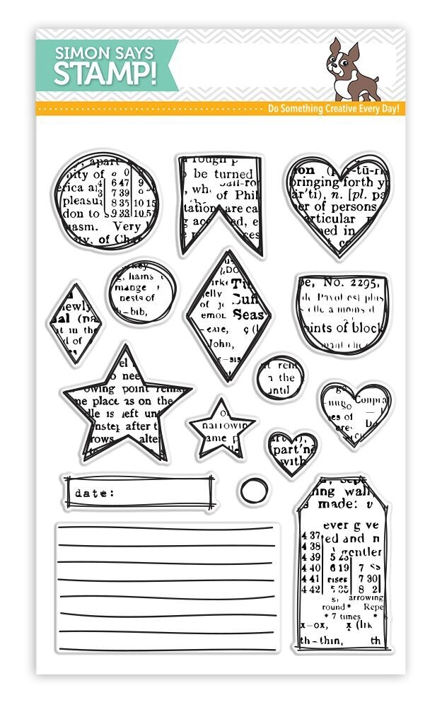 Simon Says Clear Stamp ARTSY SHAPES
